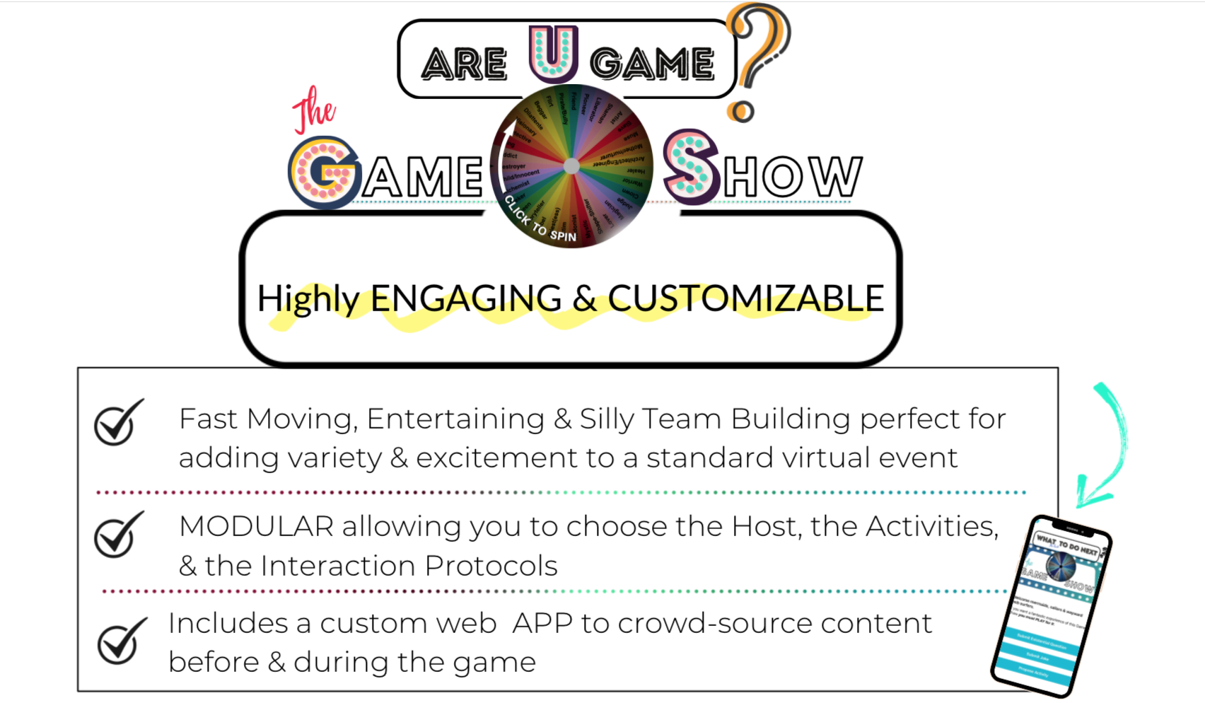Are u Game- virtual game show by Catalyst Studios