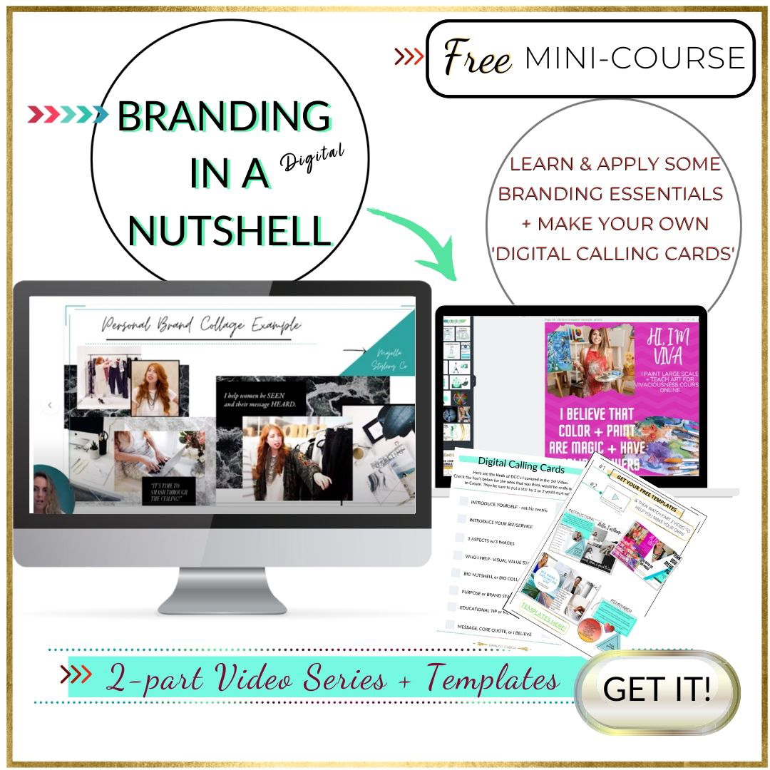 Branding in a digital nuthshell- mini course by Audette Catalyst Studios