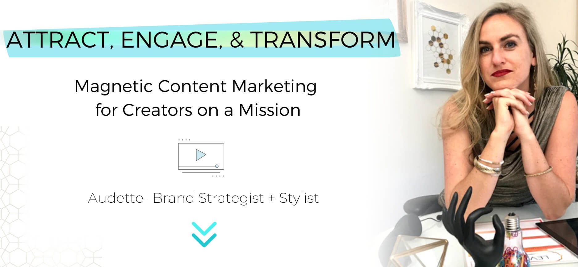 Catalyst Studios headline banner- content marketing for creators on a mission