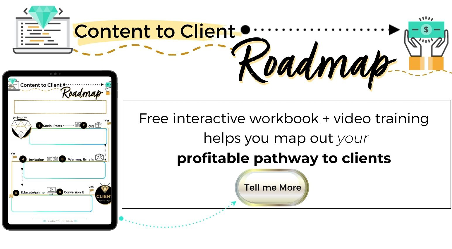 Content to Client Roadmap- content marketing freebie by Audette- Catalyst Studios