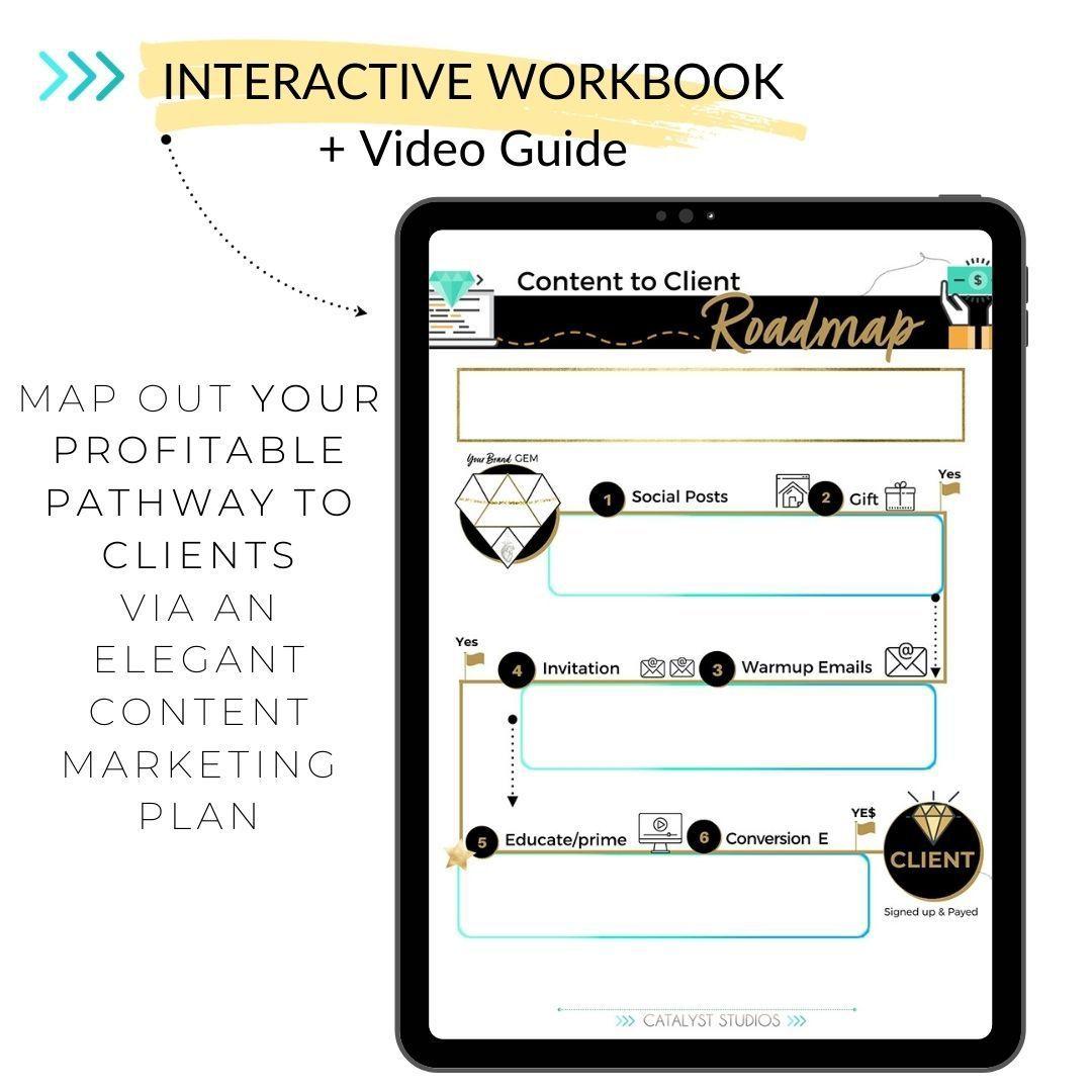 Content to Client Roadmap- content marketing freebie by Audette- Catalyst Studios