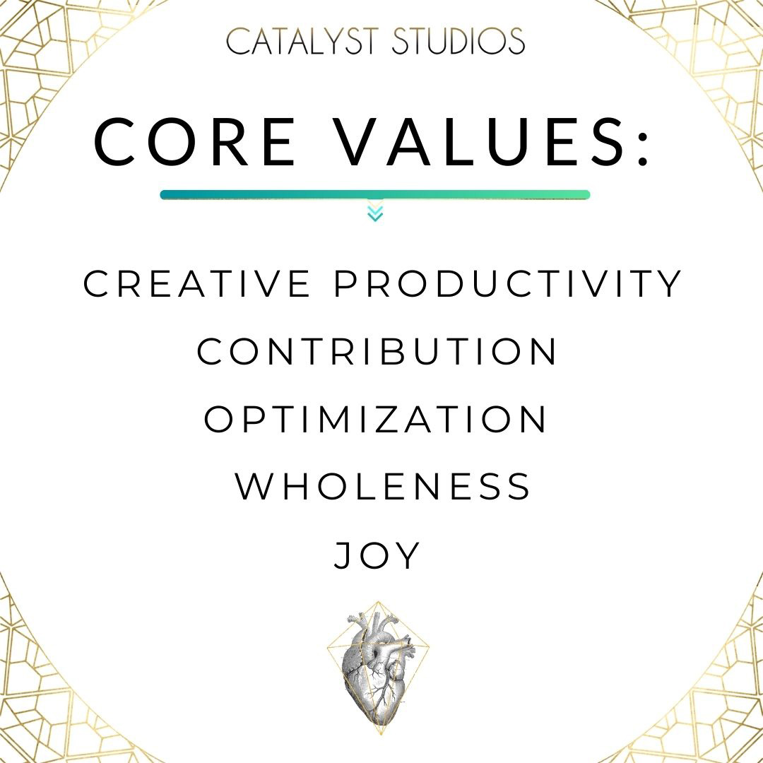 Catalyst Studios Core Values- values made visual