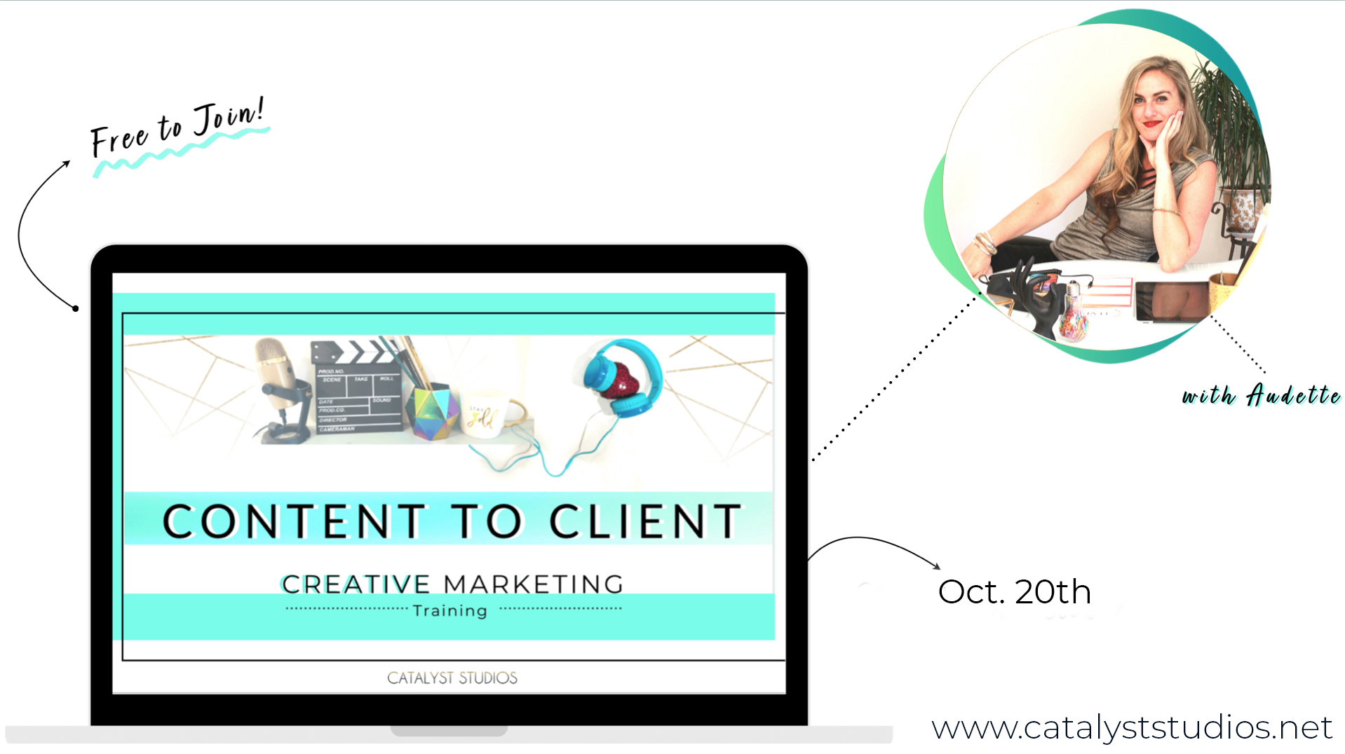 Content to Client - creative marketing training by Audette- Catalyst Studios