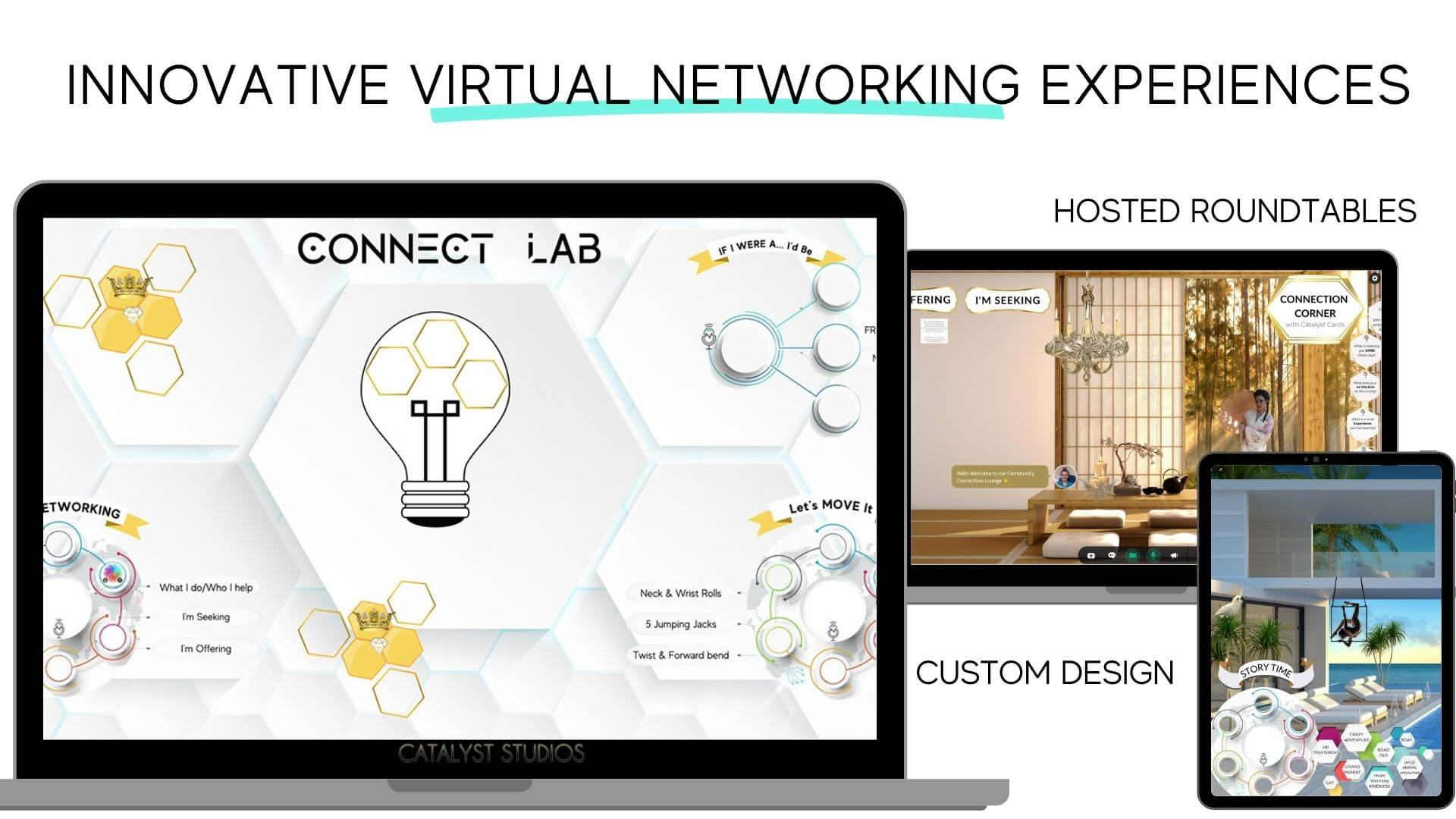 The Connect Lab = innovative virtual networking experiences by Audette at Catalyst Studios