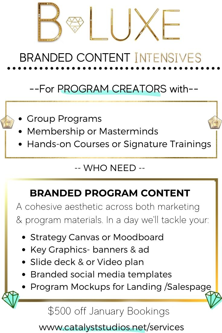 Branded Content Intensive VIP days for Program Creators
