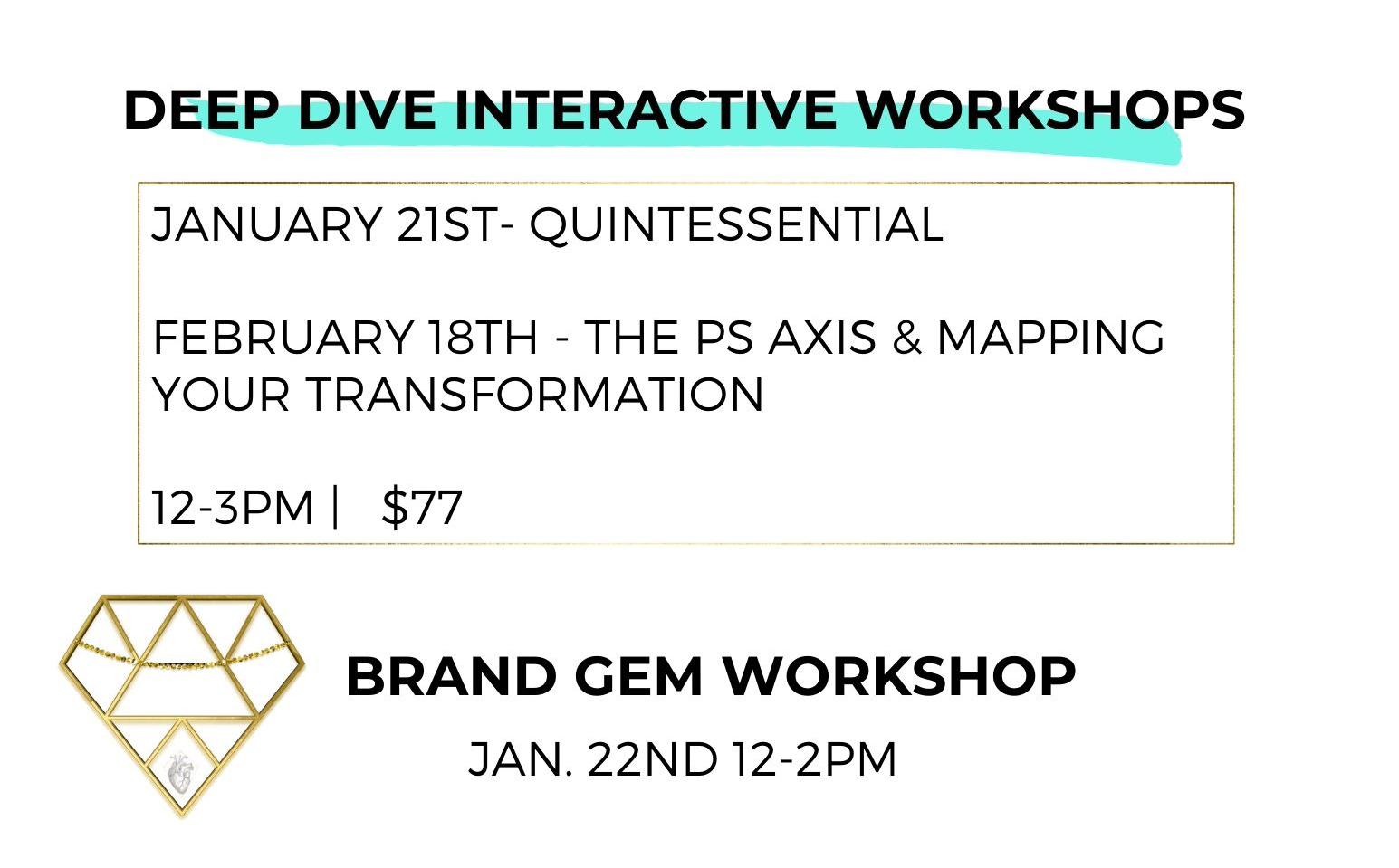 Upcoming Brand Gem & Creative Lab Workshops from Catalyst Studios