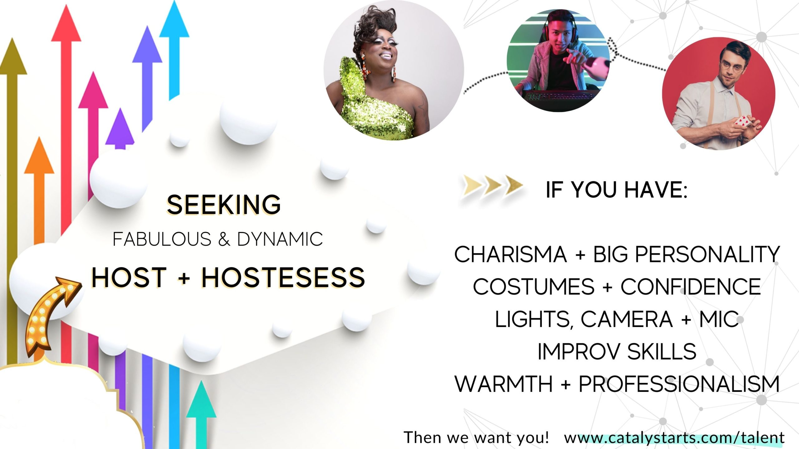 Virtual Host & Hostess Talent Callout from Catalyst Arts