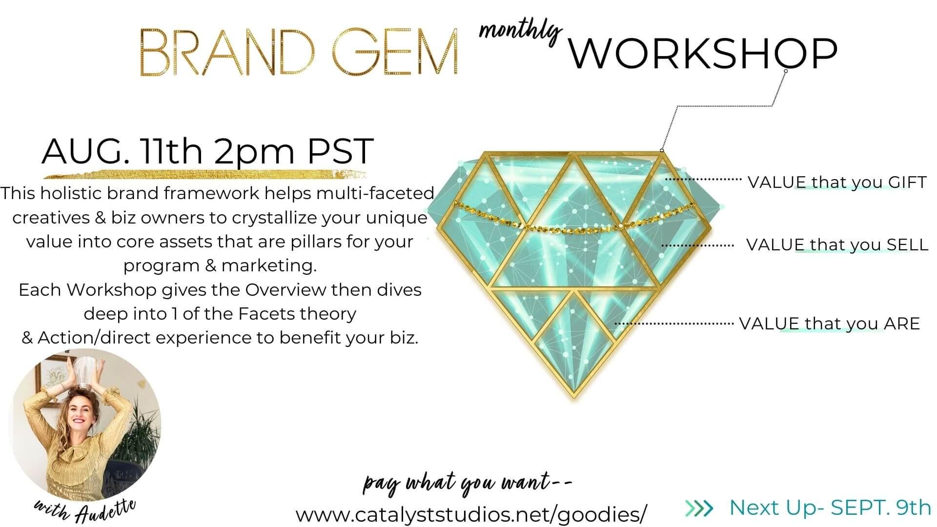 Brand Gem Workshop with Audette Catalyst Studios